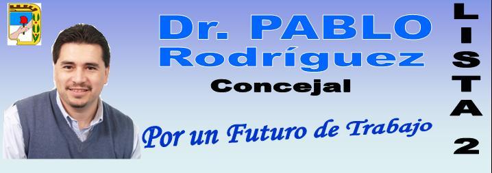 Dr. Pablo Rodríguez candidato a concejal P.J. Curuzú Cuatiá- Corrientes