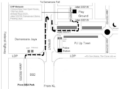 map to Damansara Utama Community Hall, Jalan SS21/9, Petaling Jaya