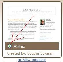 Blogger choose a template