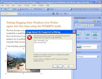 Windows Live Writer Error Message 2