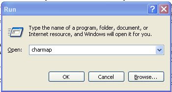 Windows Run dialog box