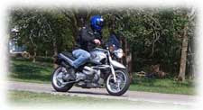 Riding my BMW R1150R near Keatonville