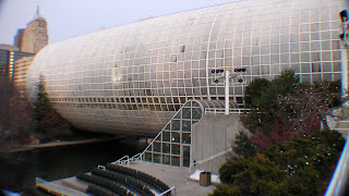 The Crystal Bridge building is the anchor of the Myriad Gardens complex.