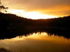 Sunset at Mt. Rushmore lake