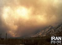 کوه قبله در مه و طوفان!