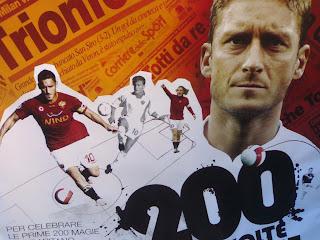 totti, 200 buts, rome, rome en images, italie