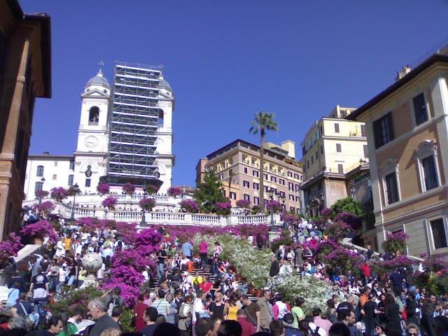 piazza di spagna, trinité des monts, rome, rome en images, italie