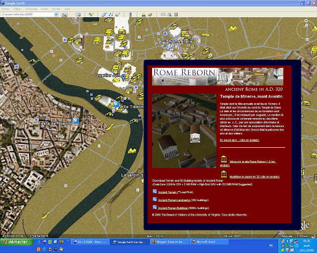 rome antique en 3D, google earth, rome, rome en images, italie