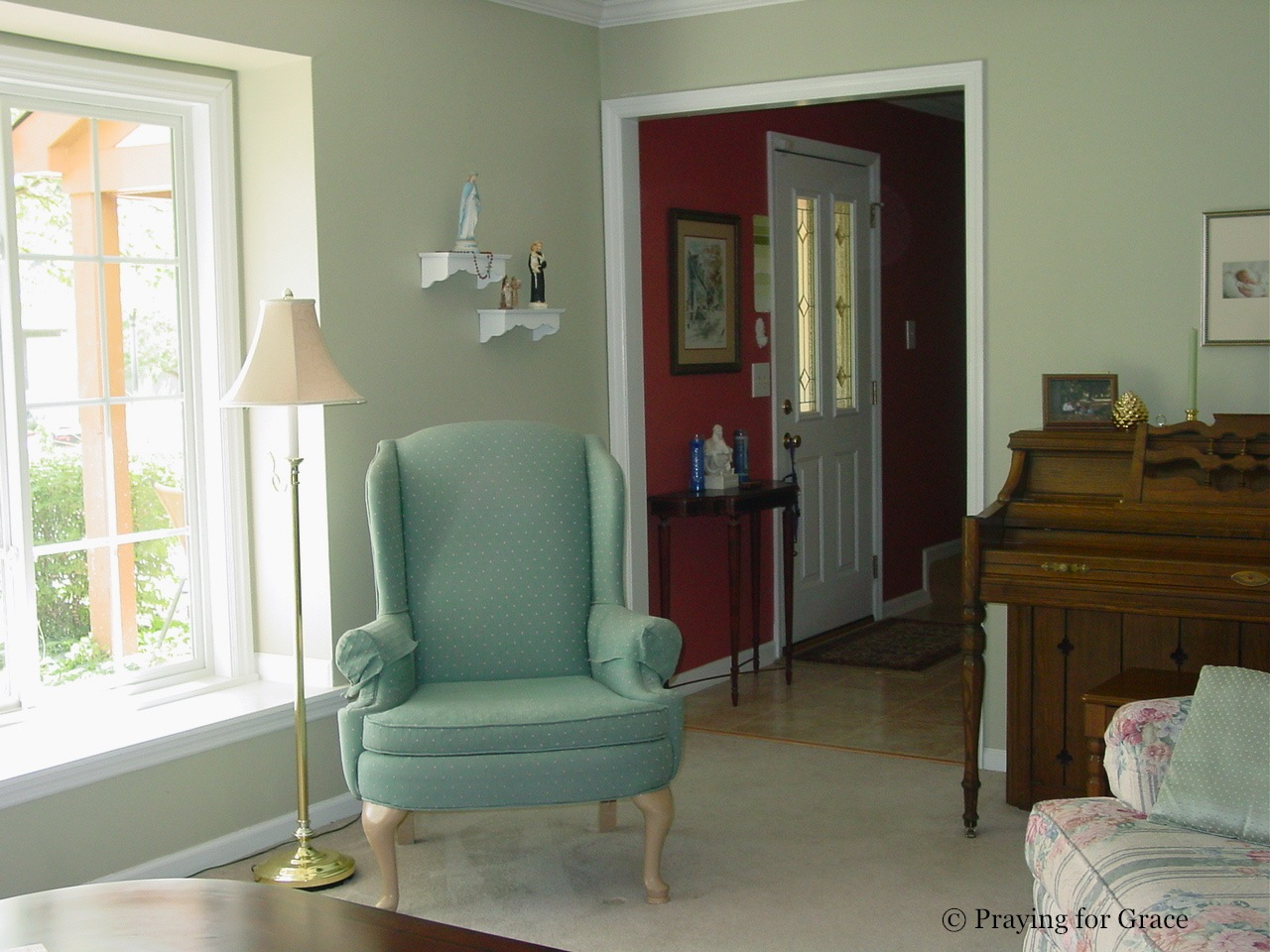 Light Green And Brown Living Room