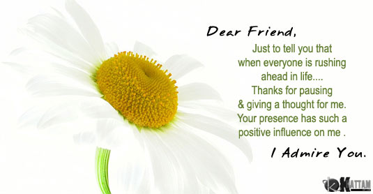 To my dearest friend.
