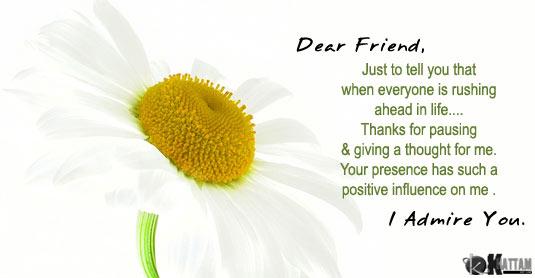 To my dearest friend.