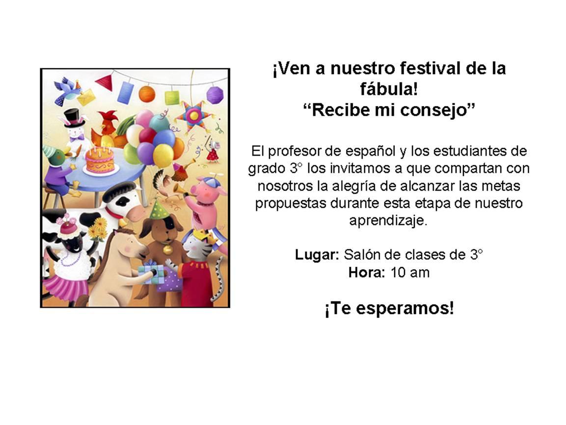 Festival De La Fábula Recibe Mi Consejo Tarjeta De