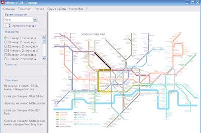 Карта лондонского метро