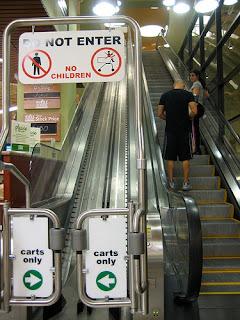 Cart escalator!