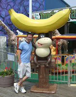 Nothing better than a monkey holding on to his big banana.