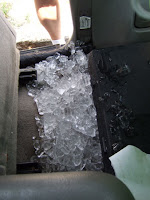 I managed to tip the cooler over in the truck... Yuck!