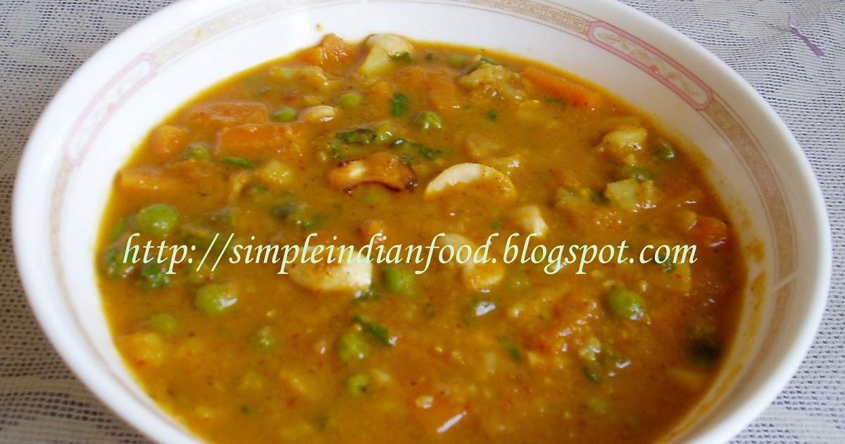 Simple Indian Food- An Easy Cooking Blog: Navratan korma