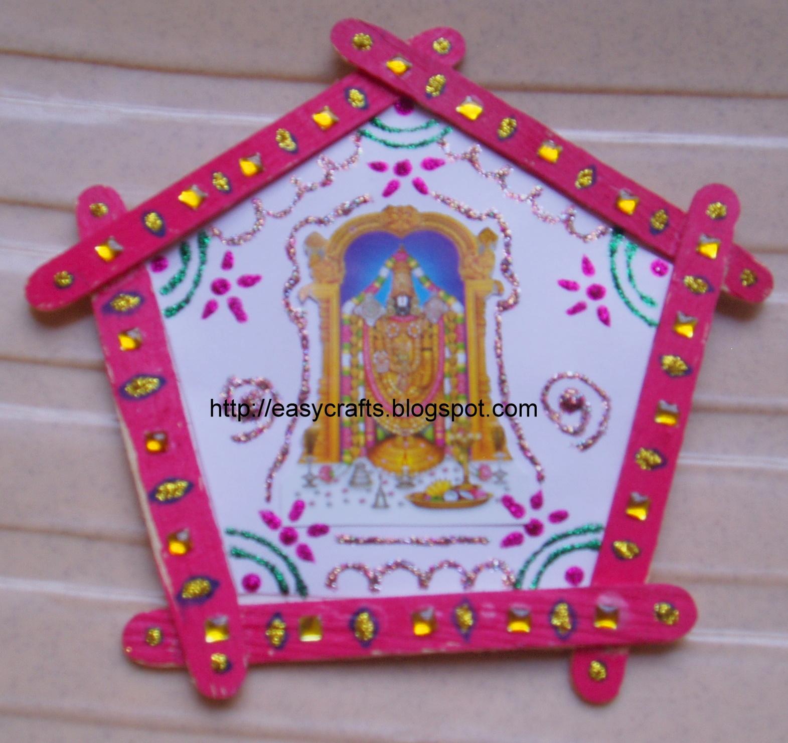 Icecream stick hanging also easy crafts explore your creativity rh easycraftsspot