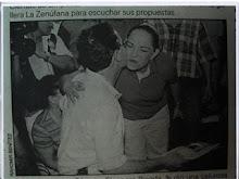 Ella presa, el presidente