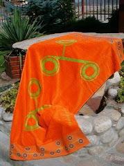 modni peskir za plazu sa bordurom