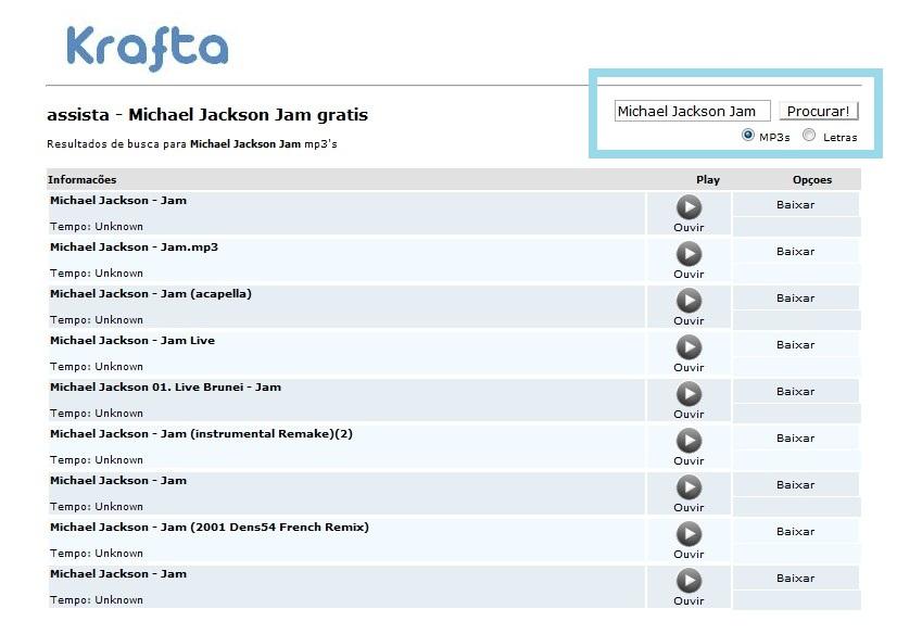 AS NO DO BAIXAR KRAFTA MUSICAS MICHAEL JACKSON