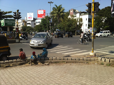 Pune India Big Cinema intersection