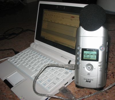 Eee PC + Zoom H4 = mobile recording studio