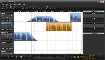 Audio editors: Hindenburg Journalist for desktop, Monle 4