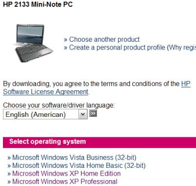 DRIVERS DOWNLOAD LAPTOP MINI HP FOR XP
