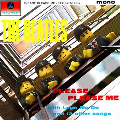 Albuns musicais clássicos recriados Lego