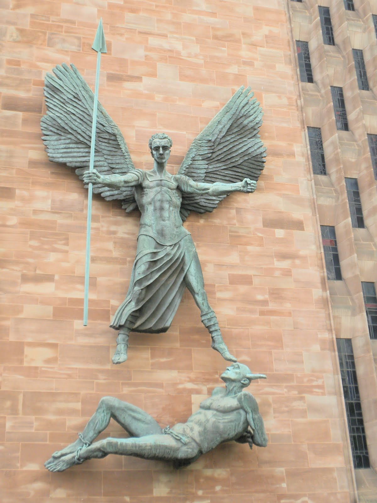 Guttae Sir Jacob Epstein St Michael Subduing The Devil
