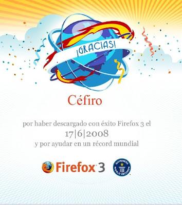 Certificado de descarga de Firefox 3
