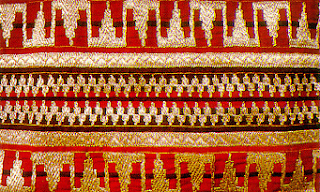 Indonesia Cultural And Art Tapis Traditional Weaving Of Lampung