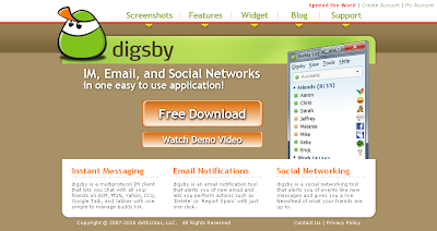 Connect with Email+IM+Social Networking sites in one go with Digsby