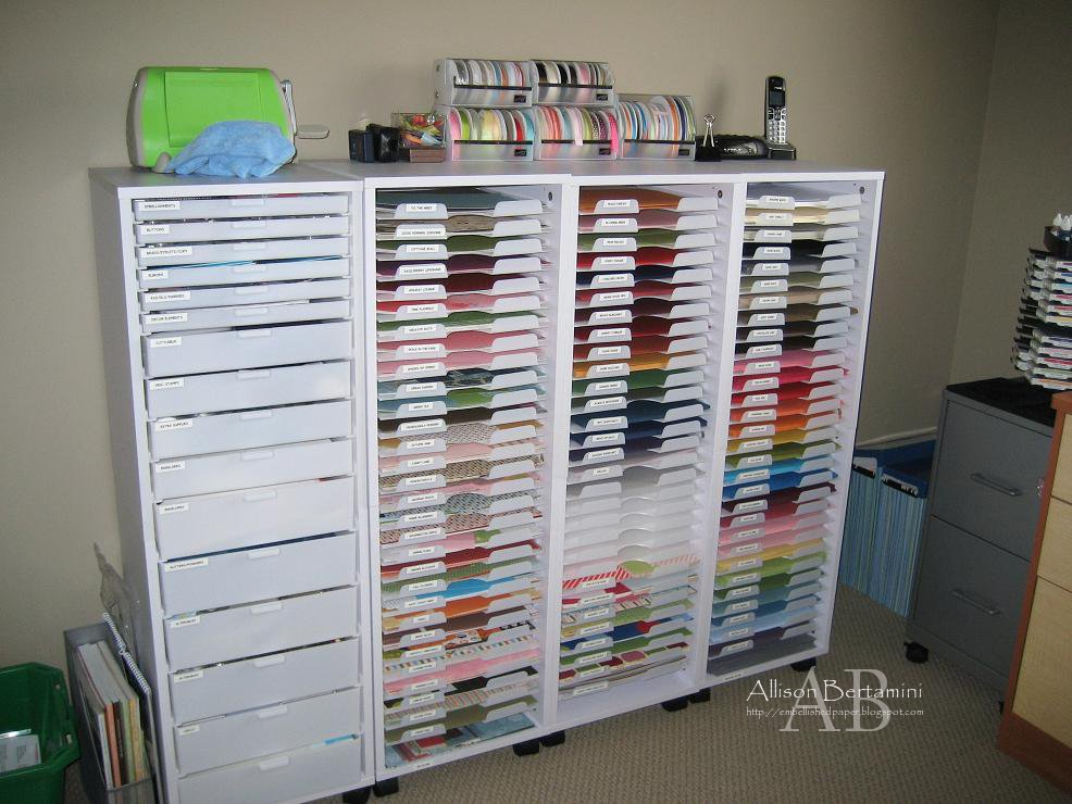 Storage For Craft Room: Embellished Paper: My New Craft Room