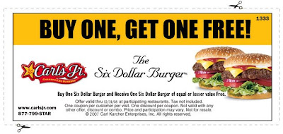 graphic about Carls Jr Coupons Printable named Totally free Cafe Printable Discount coupons, Quick Food stuff Cafe
