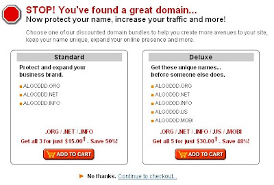 domain name registration information