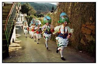 Peliqueiros da reportaxe El Entroido más Ancestral de Galicia