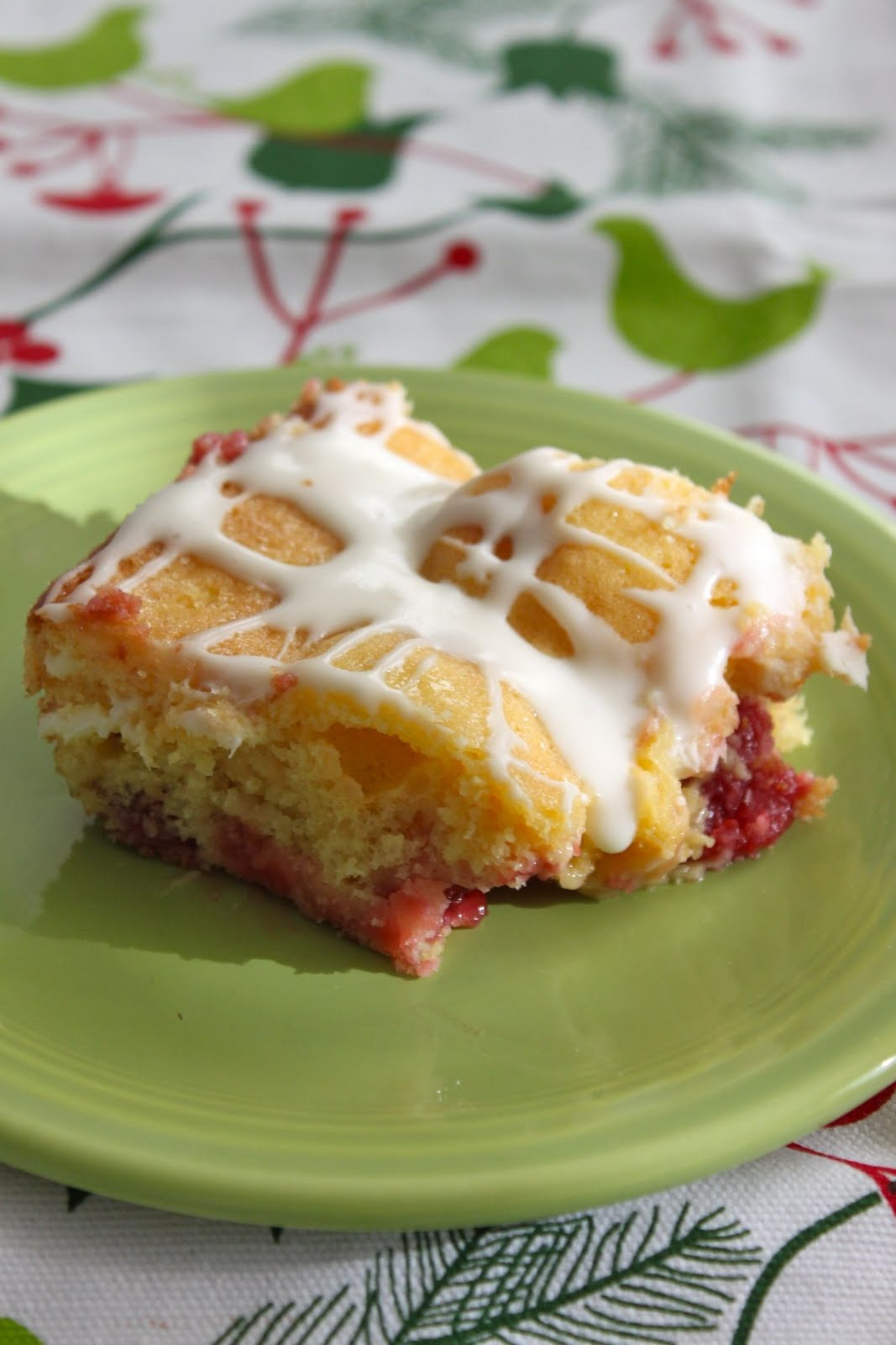Baked Perfection Cherry Almond Coffee Cake With Cream
