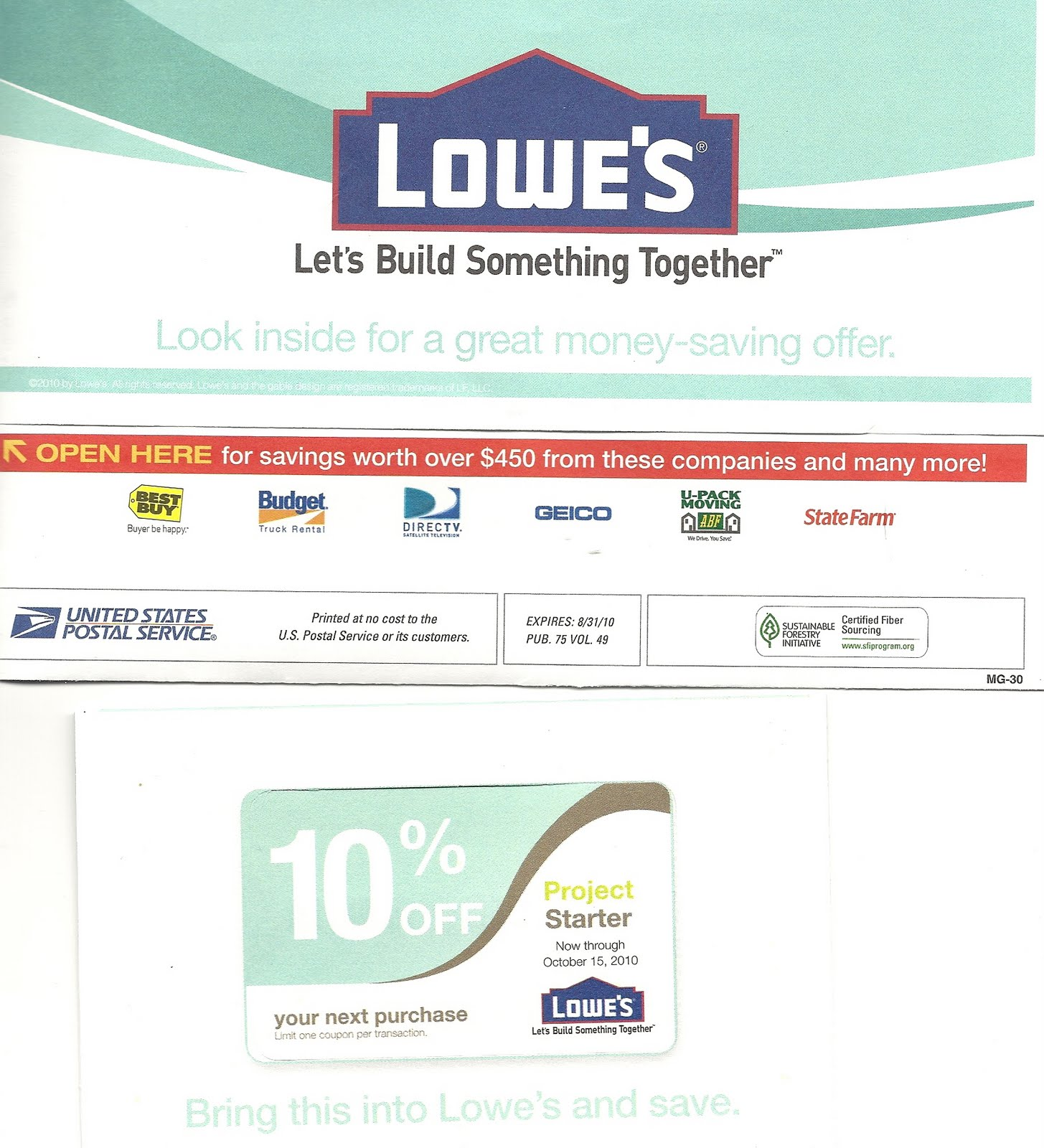 Lowes Coupon Has Been Reissued In The Usps Moving Kit