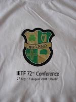 IETF Dublin t-shirt