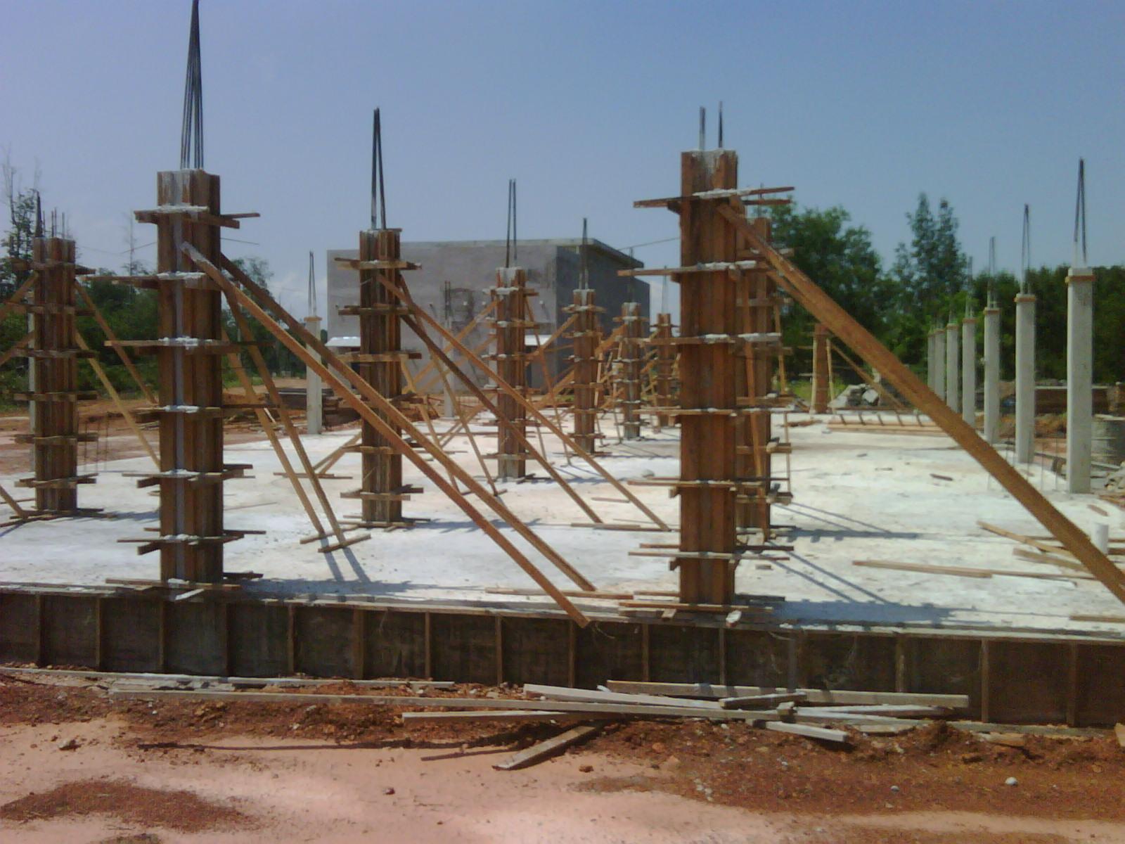 Kerja Pembinaan Concrete Slab Aras Bawah Dan Column 1 Sedang Dijalankan Dijangka Siap Sepenuhnya Selewat Lewatnya