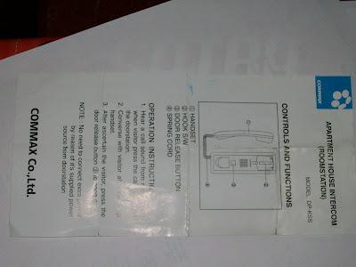 como instalar intercomunicador commax de dos telefonos