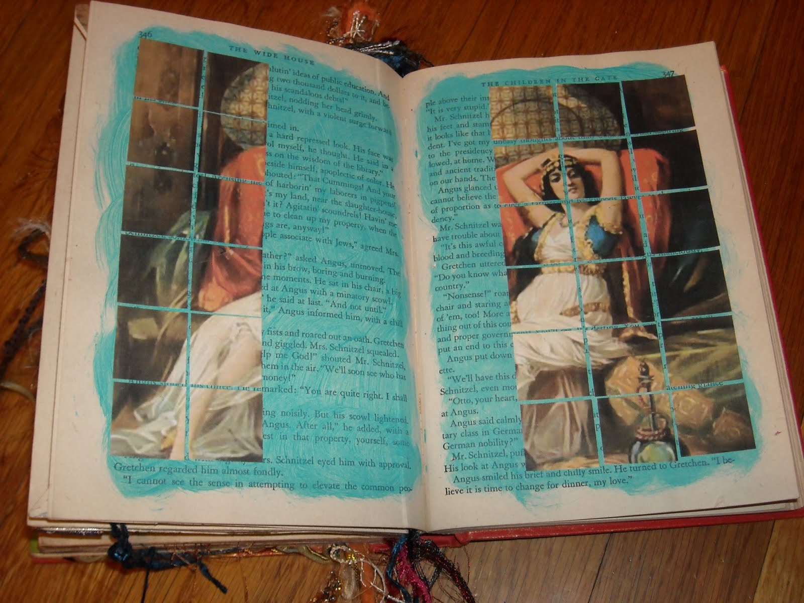 Craftybellydancer: More Altered Book Pages