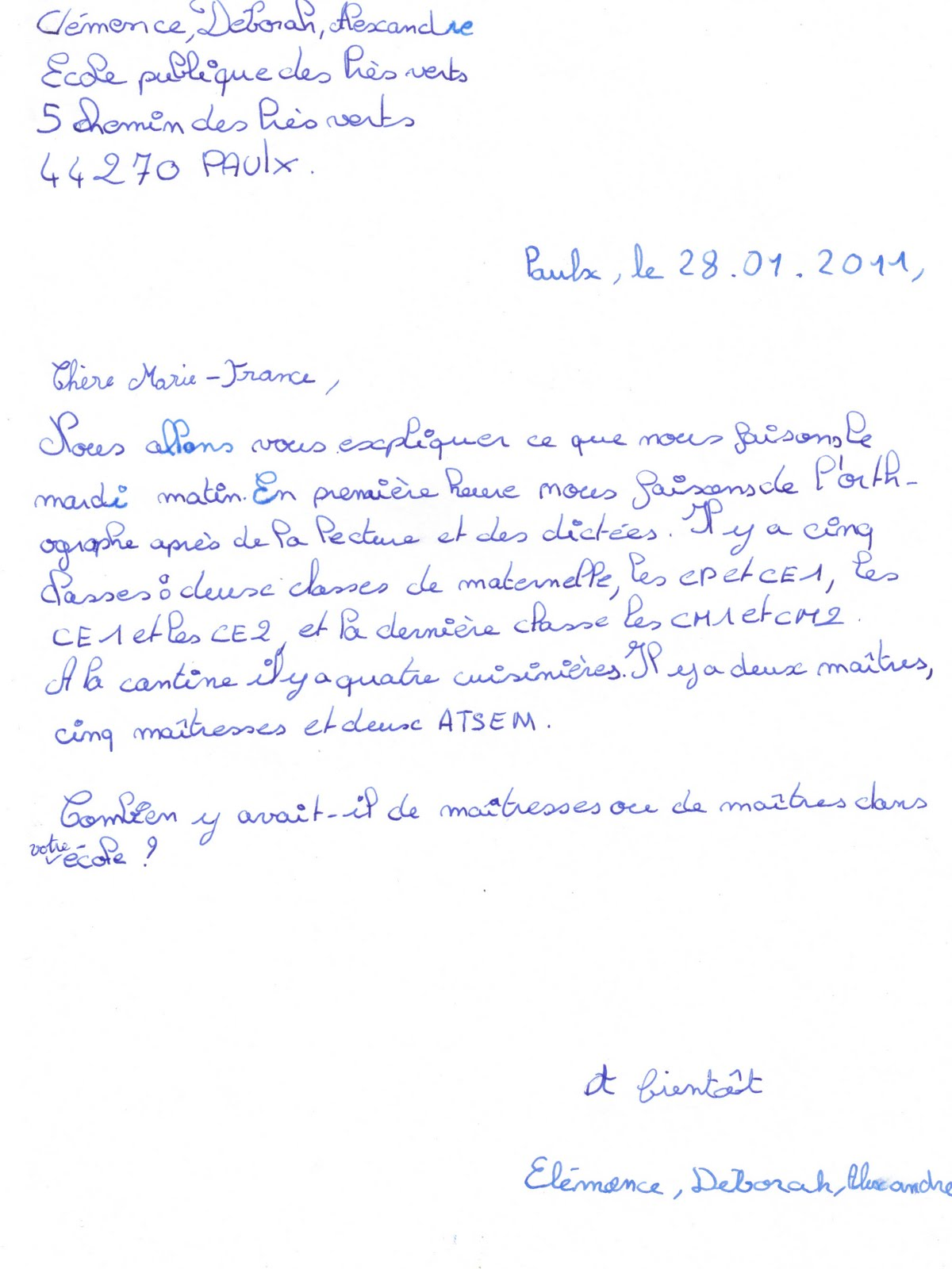 Doc Modele Lettre Amicale