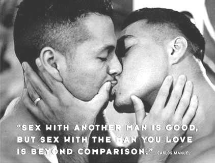 Black gay guys kissing