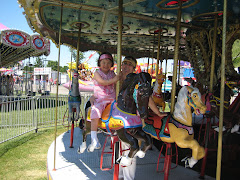 Esther and Ya-ya on the Merry-go-round
