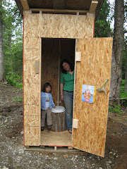 Jill & Jeremy's newest homestead accomplishment: A fancy outhouse!
