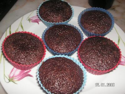 Kakaolu Cevizli Muffin(Browni)