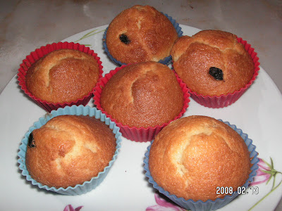 Üzümlü Muffin (Top Kek)